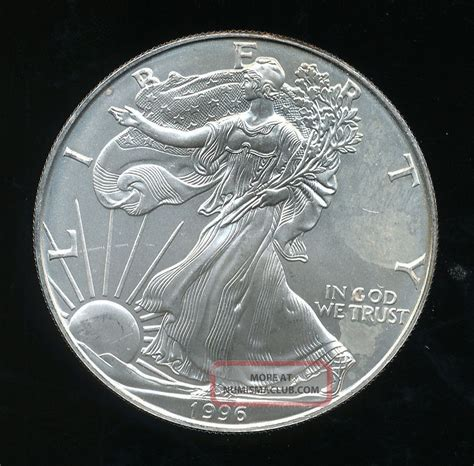 1 Oz Silver Eagle Mintage - 1996 american silver eagle key date 1 oz coin minor