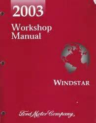 free auto repair manuals 2003 ford windstar engine control 2003 ford windstar factory workshop manual