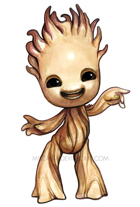 baby clip on fan baby groot by miszasta on deviantart