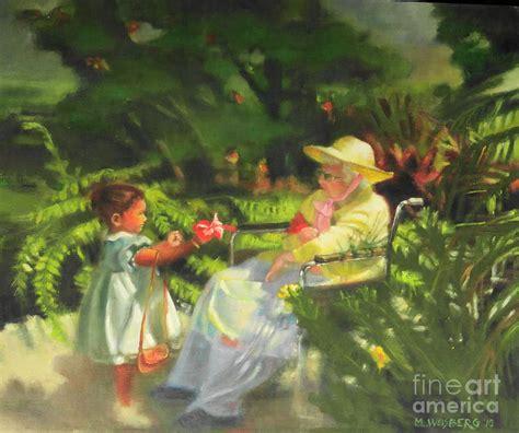 Grandmas Garden by S Garden Painting By Marilyn Weisberg
