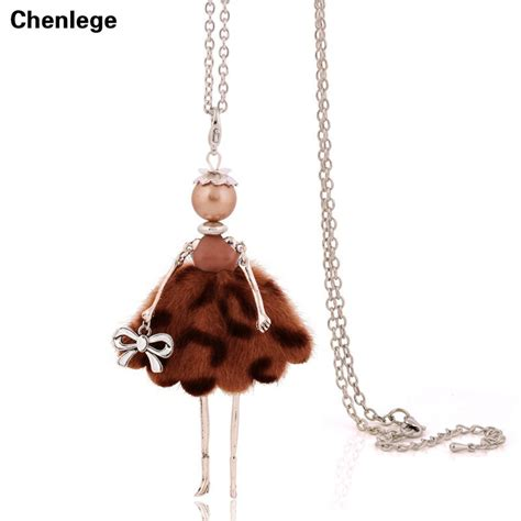 2017 new doll pendant necklace sales charm