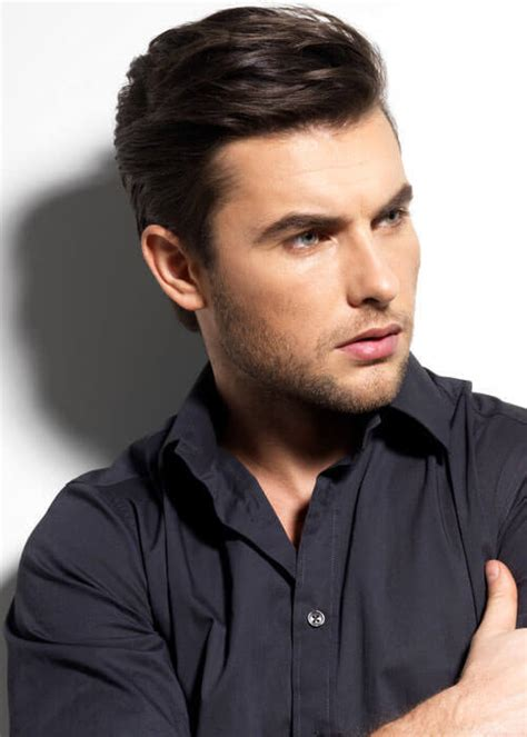 how to sweep hair back mens 49 coolest short haircuts for men in 2018