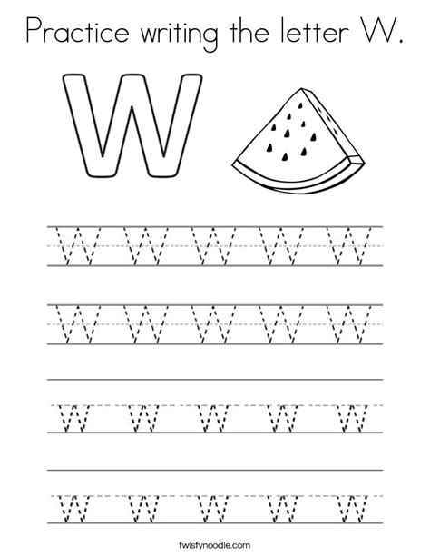 letter w coloring pages preschool practice writing the letter w coloring page twisty noodle