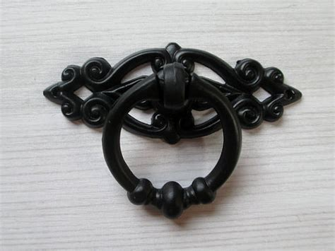 black shabby chic dresser drawer pulls knobs handles drop