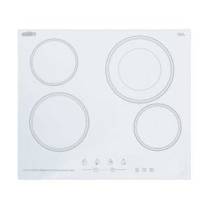 white cooktops summit appliance 24 in radiant electric cooktop in white