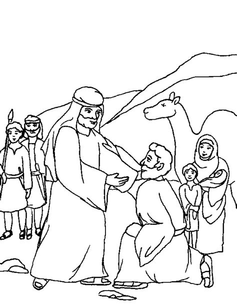 coloring page jacob and esau jacob and laban coloring pages