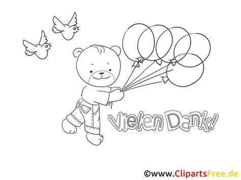 baer mit luftballons ausmalbild danke sagen