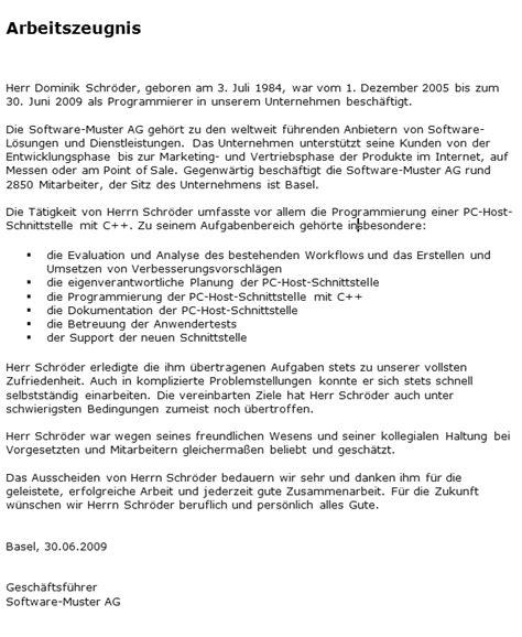 Muster Qualifiziertes Arbeitszeugnis Arbeitszeugnis Muster Vorlage Muster F 252 R Die Bewerbung