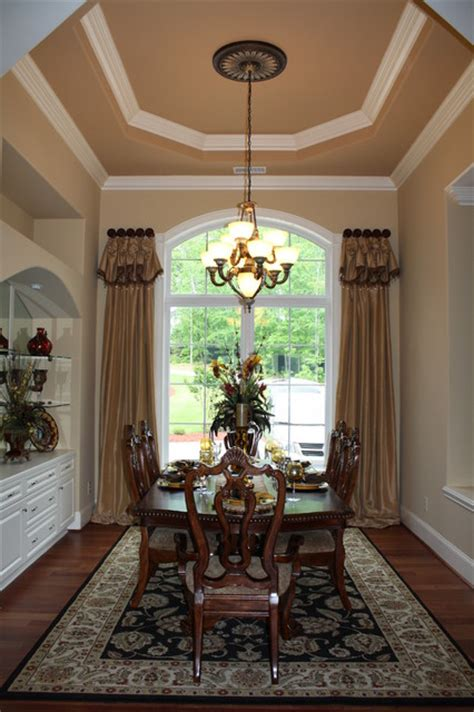 image formal dining room window treatment ideas