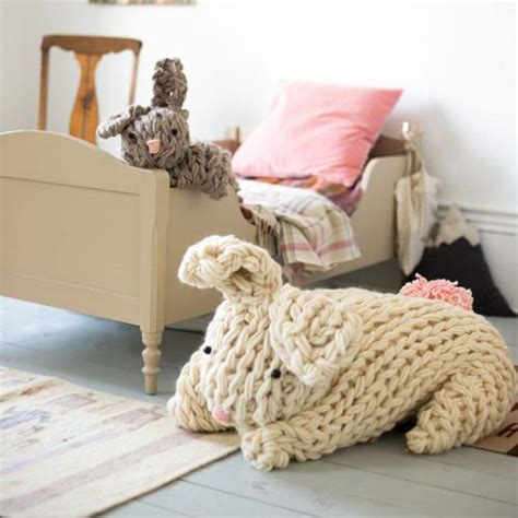 how to knit a bunny arm knit bunny pattern flax and twine