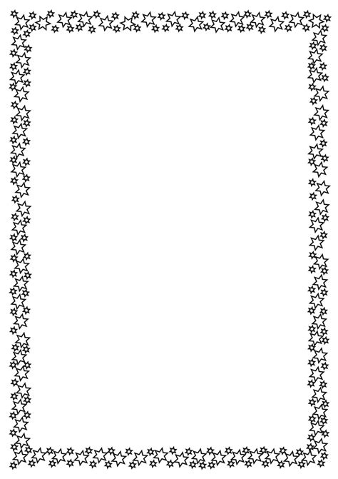 star border coloring page full page borders