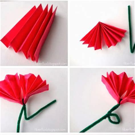 Flowers With Tissue Paper And Pipe Cleaner - s day makes easy medium and bright ideas