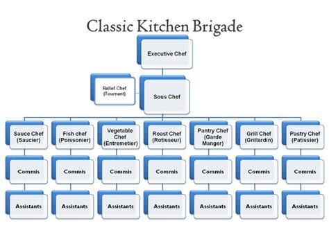 Kitchen Hierarchy by Restaurant Kitchen Hierarchy Organization Chart