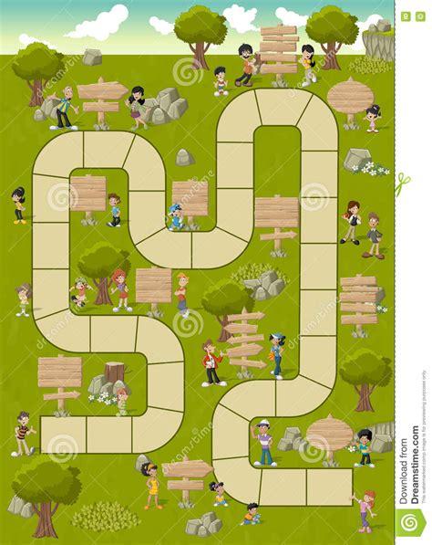 printable board game path green game piece cartoon vector cartoondealer com 3729533
