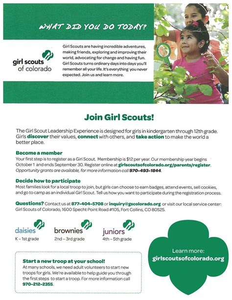girl scout templates for flyers our join girl scouts flyer has all of the basic info on