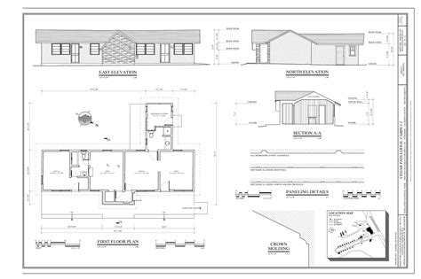 floor plan and elevation of a house file first floor plan east elevation north elevation