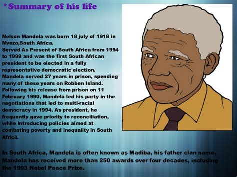 nelson mandela biography by barry denenberg summary nelson mandela