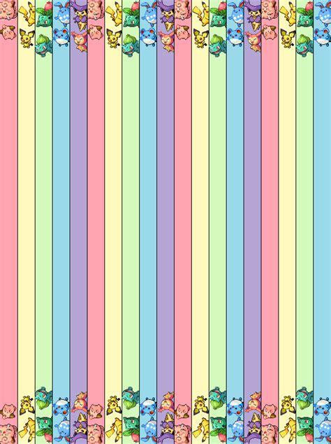 printable star paper strips pastel pokemon star strips by kitsune no kiki paper