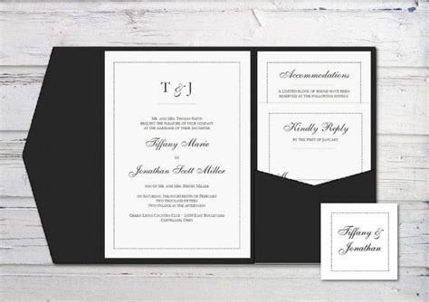 pocketfold wedding invitation template digital wedding invitation printable invitation