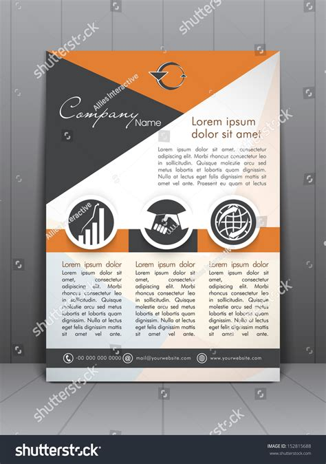 professional business flyer template corporate banner