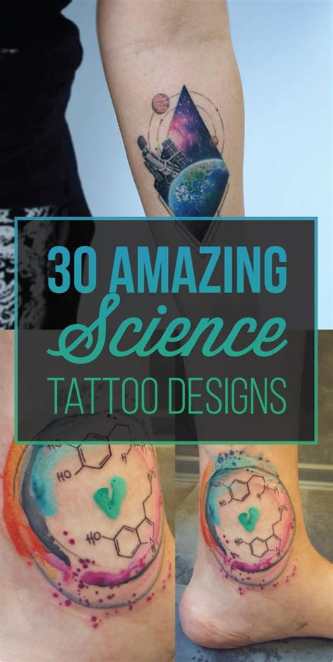 30 amazing science tattoos to nerd out on tattooblend