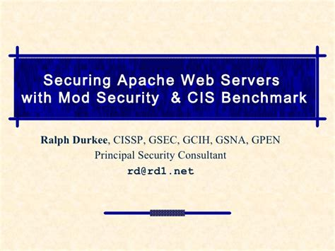 securing apache web servers