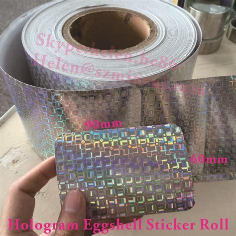 high quality blanks hologram eggshell sticker rolldotted