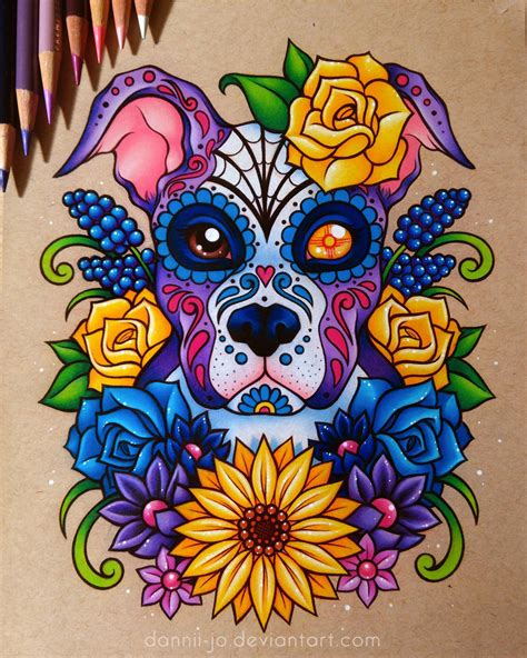 Ed Hardy Tattoos For Dogs Pet Pet Pet Product by Sugar Skull Puppy Commission By Dannii Jo On Deviantart