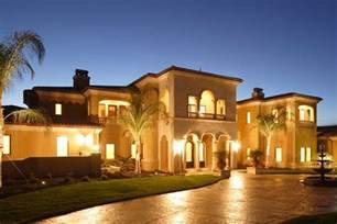 mediterranean home beverly hills style plans floor house stock