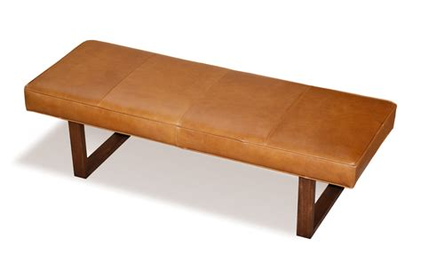 brown bench distressed brown genuine leather upholstered bench