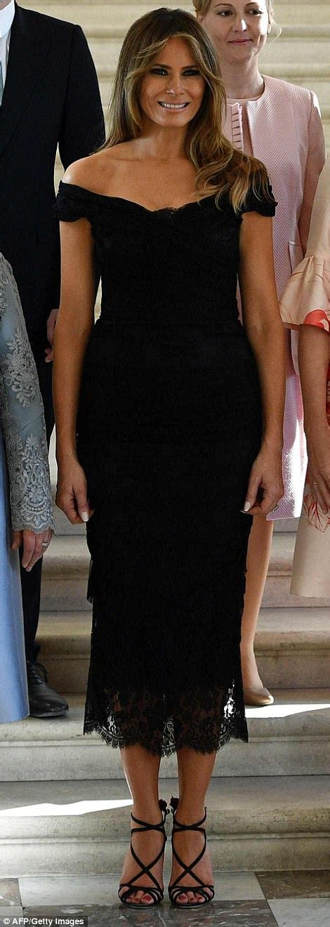 Radeva Dress melania and donald hold as they arrive in sicily daily mail
