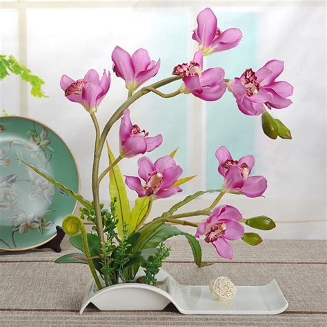 Läuse An Orchideen 3834 by Decorative Flowers Artificial Bonsai With Ceramic Dish For
