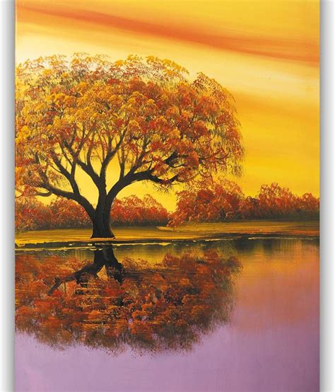 Yellow Landscape Pictures Vitalwalls Purple And Yellow Landscape Painting Buy