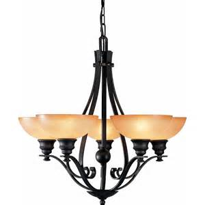 shop chandelier shop goodell 28 in 5 light foundry bronze tinted glass