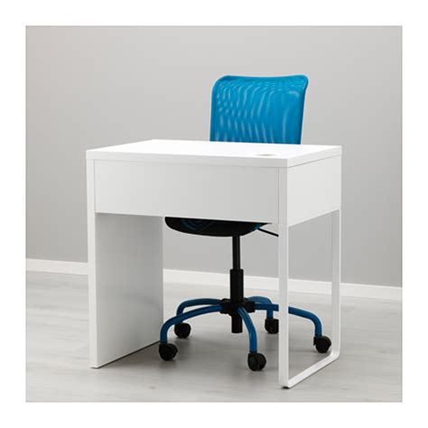 micke desk white blue 73x50 cm ikea