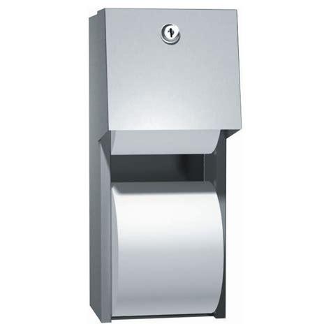 dual roll toilet tissue dispenser asi surface mounted dual roll toilet tissue dispenser