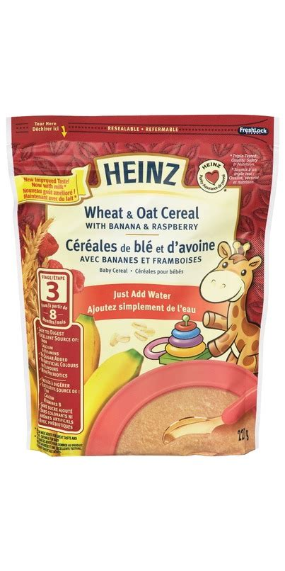 Heinz Oat And Banana Cereal 7 Months buy heinz baby wheat oat cereal add water at well ca free shipping 35 in canada