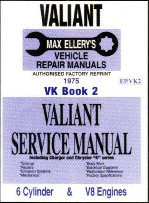 book vk chrysler valiant vk service manual book 2 sagin workshop