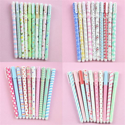 Korean Stationery Kawai Color Pen Pulpen Gel aliexpress buy 10 pcs lot color pen gel pens kawaii pen boligrafos kawaii canetas