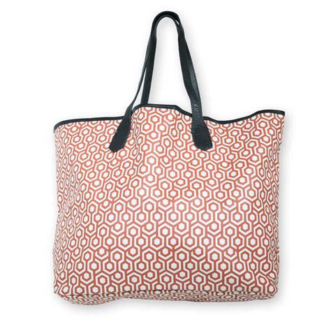 mjl tote bag waterproof rust and white canvas inside zipper pocket 12 quot x18 quot ebay