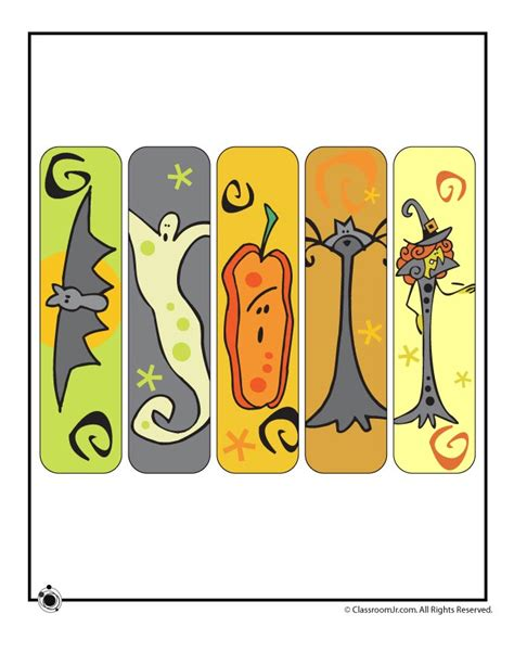 printable halloween bookmarks to color printable halloween bookmarks woo jr kids activities