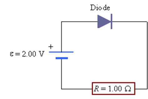 voltage polarity of resistor challenge problem 26 70 a diode a resistor and a battery in series