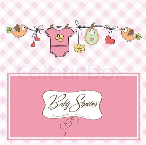 Baby girl shower card   Stock Vector   Colourbox
