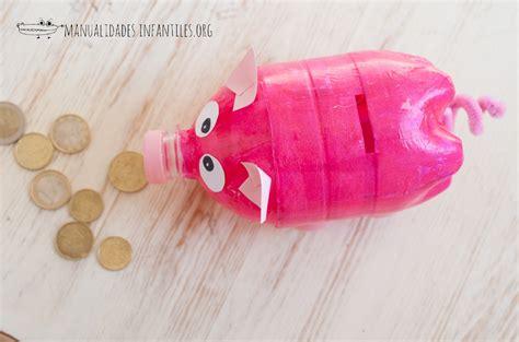 como hacer un cochinito de alcancia con botellas de cerditos con botellas recicladas manualidades infantiles