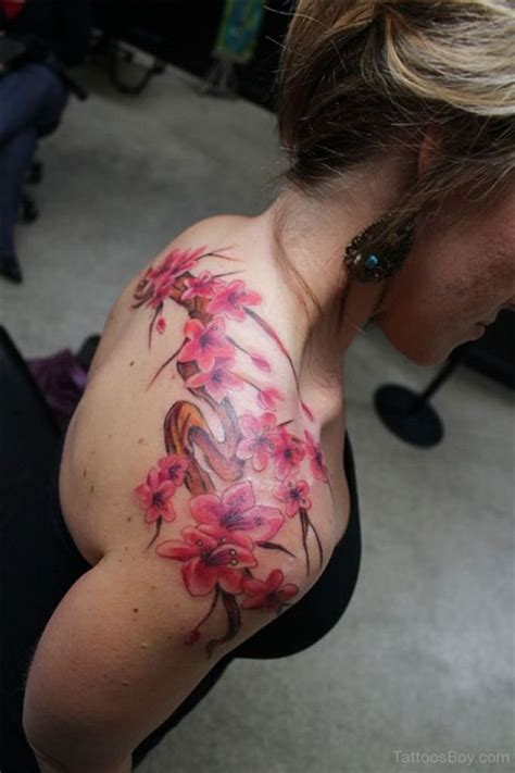 Cherry Blossom Tattoo Back