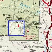 map 13 mining claims crown king area arizona 1928