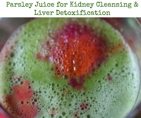 Parsley Liver Detox by Parsley Juice For Liver Detoxification And Kidney Cleansing
