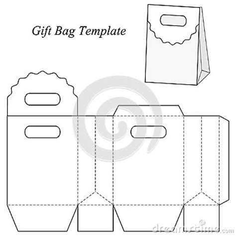 Blank Gift Bag Template Stock Vector Image 48154670 Gift Bag Template