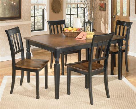 signature design  ashley owingsville  piece rectangular dining table set miskelly furniture