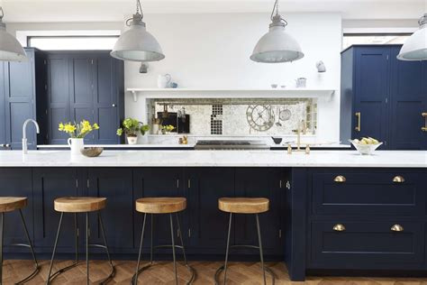 blue kitchen insel beyond the pale painted kitchen cabinets now and then